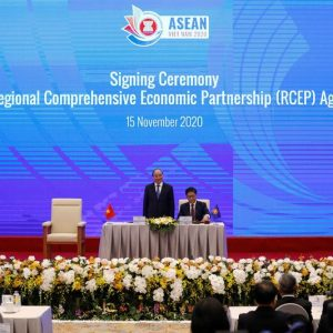 15 Countries including ASEAN, China, Japan, South Korea, Australia, and New Zealand Signed RCEP, the world largest trade agreement